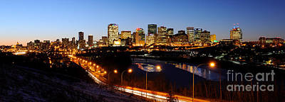 Photograph - Edmonton Skyline Panorama 3 by Terry Elniski
