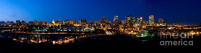 Photograph - Edmonton Skyline Panorama 4 by Terry Elniski