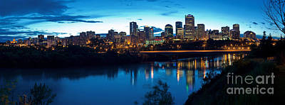 Photograph - Edmonton Skyline Panorama 8 by Terry Elniski
