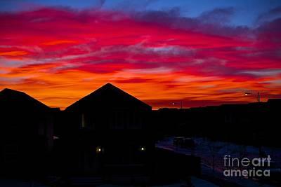 Painting - Edmonton Sunrise by Jim Hogg