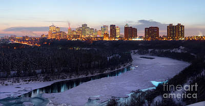 Photograph - Edmonton Winter Skyline At Sunset by Terry Elniski