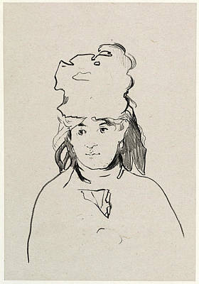Berthe Drawing - Edouard Manet, Berthe Morisot, French, 1832 - 1883 by Quint Lox