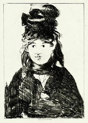 Morisot Drawing - Edouard Manet French, 1832 - 1883, Berthe Morisot by Quint Lox