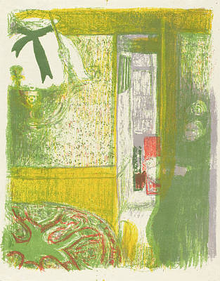 Suspension Drawing - Edouard Vuillard French, 1868 - 1940, Interior With Hanging by Quint Lox