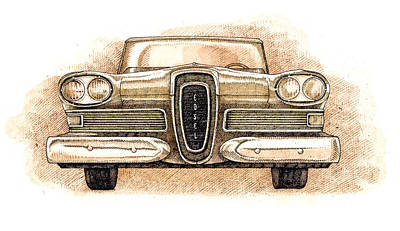 Drawing - Edsel by Dan Nelson