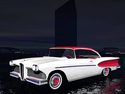Digital Art - Edsel by John Pangia