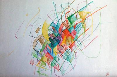 Creativity Drawing - Education 1 by David Baruch Wolk