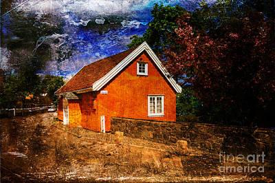 Edvard Munch's House Art Print by Randi Grace Nilsberg