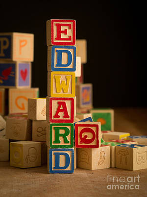 Photograph - Edward - Alphabet Blocks by Edward Fielding