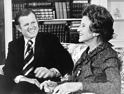 Photograph - Edward And Rose Kennedy by Underwood Archives