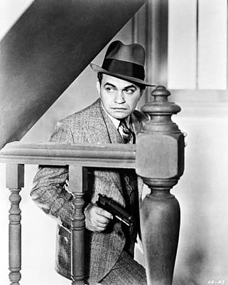 Caesar Photograph - Edward G. Robinson In Little Caesar  by Silver Screen