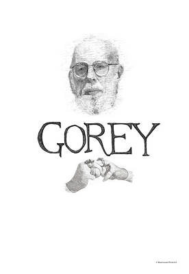 Edward Gorey Documentary Print Art Print