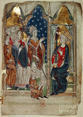 Edward I And His Court Print by British Library