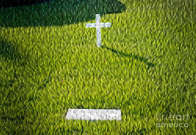 Ted Kennedy Photograph - Edward Kennedy Grave by Paul W Faust -  Impressions of Light