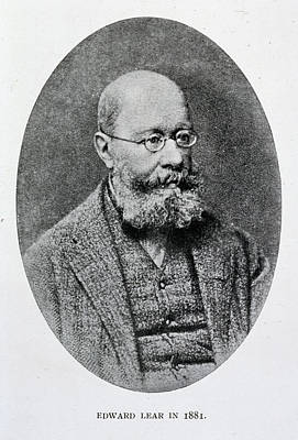 Of Artist Photograph - Edward Lear In 1881 by British Library