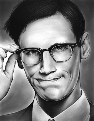 Dc Comics Drawing - Edward Nygma by Greg Joens