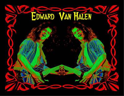 Edward Van Halen Photograph - Edward Rocks #2 by Ben Upham