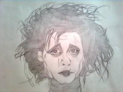 Portaits Drawing - Edward Scissorhands by Manasa Patapatnam