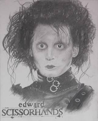 Edward Scissorhands Painting - Edward Scissorhands Portrait by Asev One