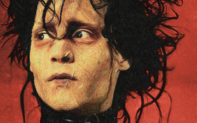 Johnny Depp Painting - Edward Scissorhands by Taylan Apukovska
