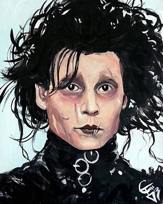 Johnny Depp Painting - Edward Scissorhands by Tom Carlton