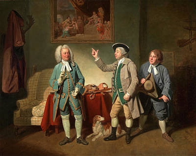 Woodcock Painting - Edward Shuter, John Beard, And John Dunstall In Isaac by Litz Collection