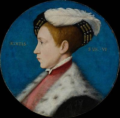 Gold Metal Painting - Edward Vi 1537-1553, When Duke by Workshop of Hans Holbein the Younger