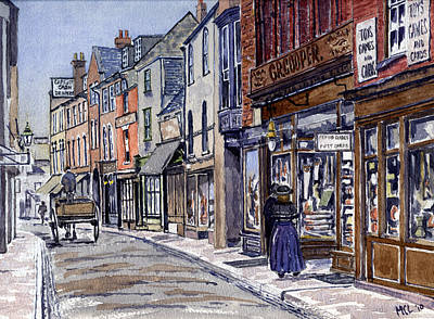 Old Street Painting - Edwardian St.ebbe's Oxford by Mike Lester