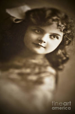 Photograph - Edwardian Young Girl by Jan Bickerton