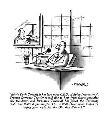 Edwin Davis Cartwright Has Been Made C.e.o Art Print