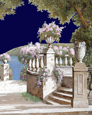 Vase Wall Art - Painting - La Balaustra Di Notte by Guido Borelli