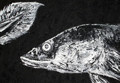 Spiny Painting - Eel Looking At Its Own Tail - Oil Portrait by Fabrizio Cassetta