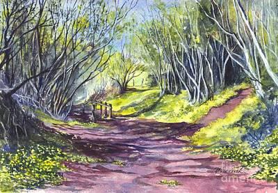 Taking A Walk Down A Spring Lane Art Print by Carol Wisniewski