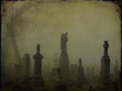 Eerie Darkness In The Fog Art Print by Gothicrow Images