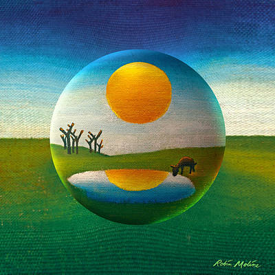 Folk Art Digital Art - Eeyorb  by Robin Moline