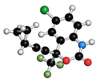 Chemical Photograph - Efavirenz Hiv Drug Molecule by Molekuul