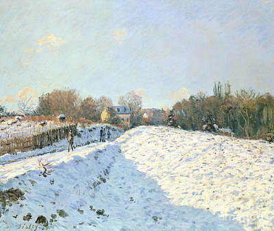 Effect Of Snow At Argenteuil Art Print