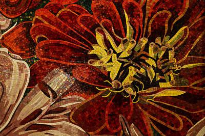 Effervescent - Sparkling Intricate Ceramic Tile Mosaic Print by Georgia Mizuleva
