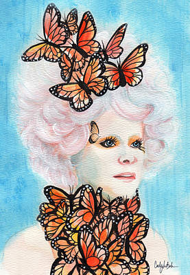 Hunger Games Painting - Effie Monarch by CJ Mars