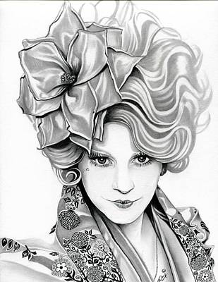 Tribute Drawing - Effie Trinket - The Hunger Games by Fred Larucci