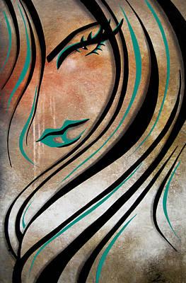 Modern Abstract Drawing - Effortless by Tom Fedro - Fidostudio