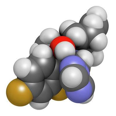 Molecule Photograph - Efinaconazole Antifungal Drug Molecule by Molekuul