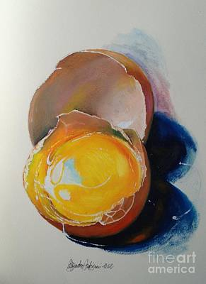 Note Card Painting - Egg.. by Alessandra Andrisani