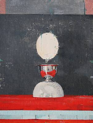 Red And Black Photograph - Egg Over Red And Black by Charlie Millar
