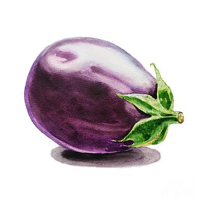 Eggplant  Art Print by Irina Sztukowski