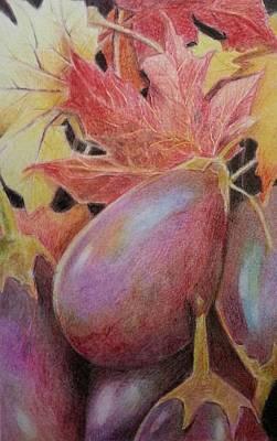 Drawing - Eggplant by NJ Brockman