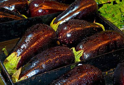 Photograph - Eggplants by Robert Meyers-Lussier