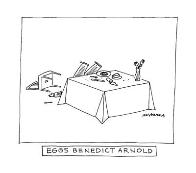 Eggs Benedict Arnold Art Print by Mick Stevens