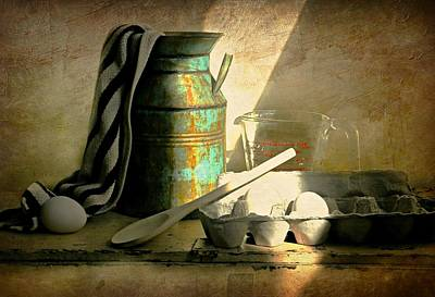 Eggs For Breakfast Art Print by Diana Angstadt