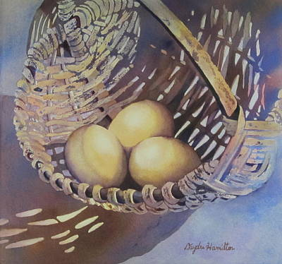 Painting - Eggs In A Basket II by Daydre Hamilton